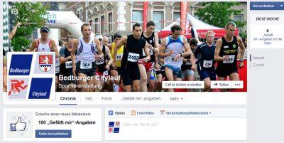 Citylauf auch auf Facebook